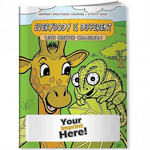 Coloring Book   Differences, Everybody Is Different With Chester Chameleon