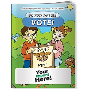 Coloring Book   Do Your Part & Vote