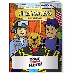 Coloring Book   Firefighters In Uniform