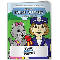 Coloring Book   Friendly Police Officers Are My Heroes
