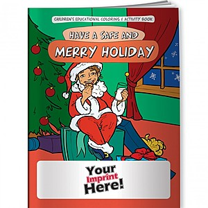 Coloring Book   Have A Safe & Merry Holiday