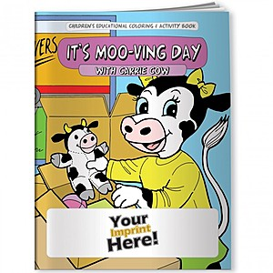 Coloring Book   It's Moo Ving Day With Carrie Cow