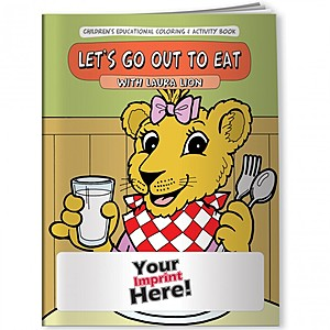 Coloring Book   Let's Go Out To Eat With Laura Lion