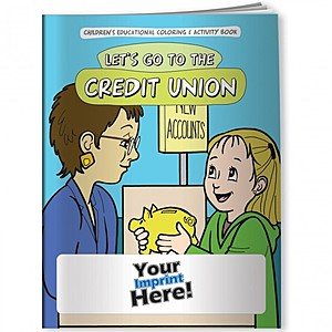 Coloring Book   Let's Go To The Credit Union