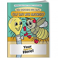 Coloring Book   Lisa Lightning Bug Says Stay Safe With Electricity