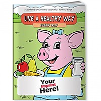 Coloring Book   Live A Healthy Way Every Day