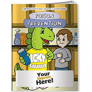 Coloring Book   Poison Prevention Dinosaur