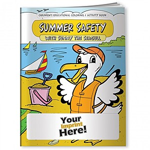 Coloring Book   Summer Safety With Sunny The Seagull