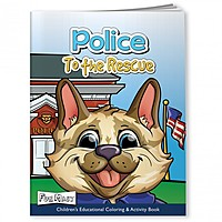Coloring Book With Mask   Police To The Rescue