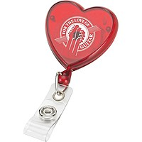 Heart Shaped Retractable Badge Ree Holder