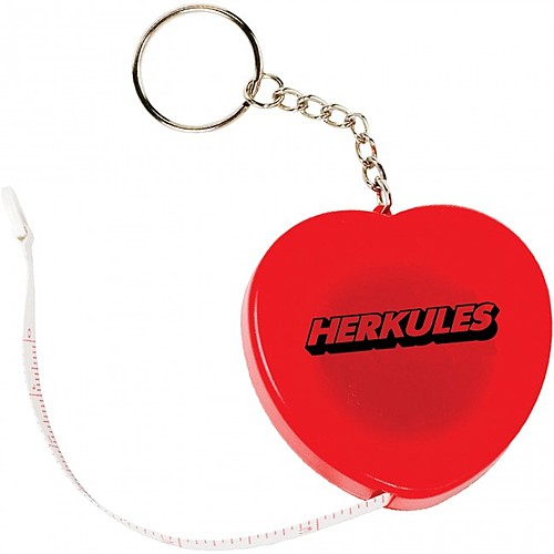 Photo of Heart Tape Measure Key Tag