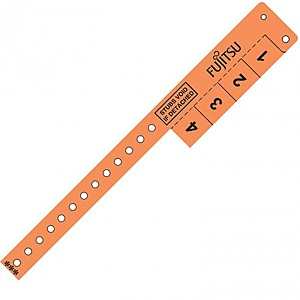 Multi Tab Vinyl Wristband With 4 Tabs