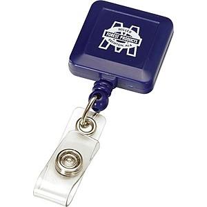 Retractable Badge Reel Square Metal