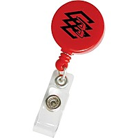 Round Retractable Badge Holder