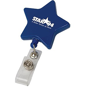 Star Retractable Badge Holder