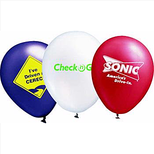 "9"" Metallic Latex Balloons"