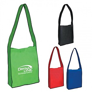 Non Woven Messenger Tote With Hook And Loop Closure