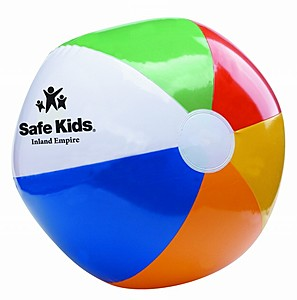 "12"" Six Color Beach Ball"