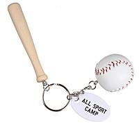 Baseball & Bat Keychain
