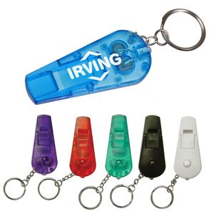 Whistle Flashlight Keychain