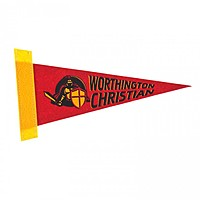"4 "" X 10"" Screen Print Colored Felt Pennant"