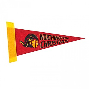 "4 "" X 10"" Screen Print White Felt Pennant"