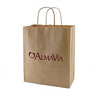 "50% Recycled Natural Kraft Shopping Bags   10"" X 12.5"""