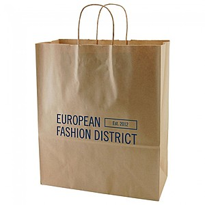 "50% Recycled Natural Kraft Shopping Bags   13"" X 15.75"""
