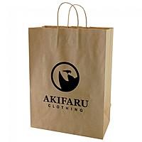 "50% Recycled Natural Kraft Shopping Bags   13"" X 17.5"""