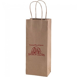 "50% Recycled Natural Kraft Shopping Bags   5.25"" X 13"""
