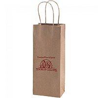 "50% Recycled Natural Kraft Shopping Bags   5.25"" X 13"""