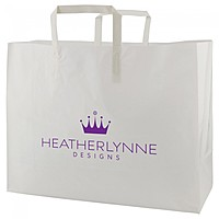 "Clear Frosted Tri Fold Handle Shopping Bags   16"" X 12"""