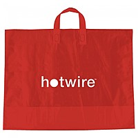 """Color Frosted Soft Loop Handle Bags   22"""" X 18"""""""