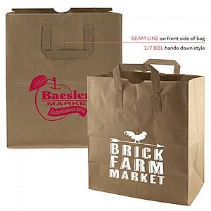 """Flat Handle Paper Bag   12"""" X 14"""""""