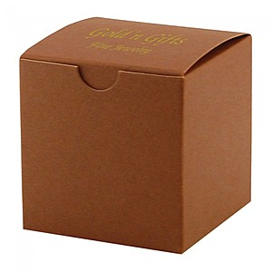 "Fold Up Gift Box   Color Tinted Kraft   3"" X 3"""