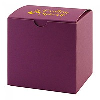 "Fold Up Gift Box   Color Tinted Kraft   4"" X 4"""