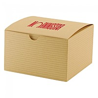 "Fold Up Gift Box   Color Tinted Kraft   5"" X 5"""