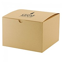 "Fold Up Gift Box   Color Tinted Kraft   6"" X 4.5"""