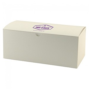 "Fold Up Gift Box   Frost White Gloss   10"" X 5"""