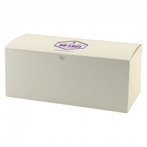 "Fold Up Gift Box   Frost White Gloss   10"" X 5"""