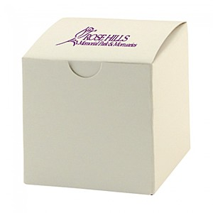 "Fold Up Gift Box   Frost White Gloss   3"" X 3"""