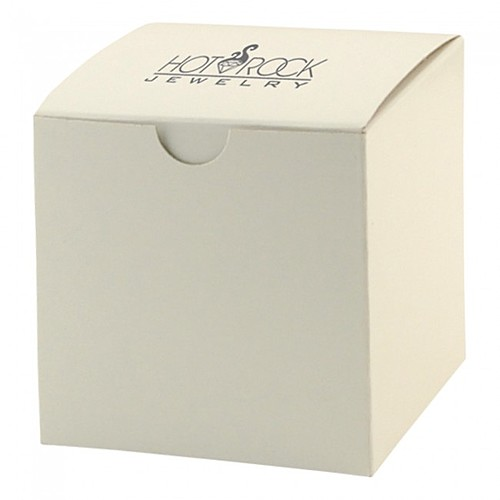 "Fold Up Gift Box   Frost White Gloss   4"" X 4"""