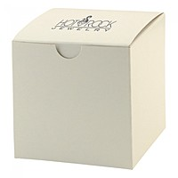 "Fold Up Gift Box   Frost White Gloss   4"" X 4"""