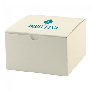 "Fold Up Gift Box   Frost White Gloss   5"" X 5"""