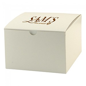 "Fold Up Gift Box   Frost White Gloss   6"" X 4.5"""