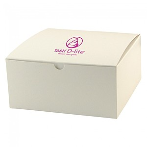 "Fold Up Gift Box   Frost White Gloss   6"" X 6"""