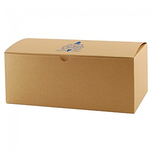 "Fold Up Gift Box   Natural Kraft   10"" X 5"""