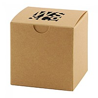 "Fold Up Gift Box   Natural Kraft   2"" X 2"""