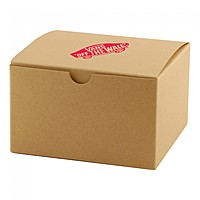 "Fold Up Gift Box   Natural Kraft   4"" X 4"""