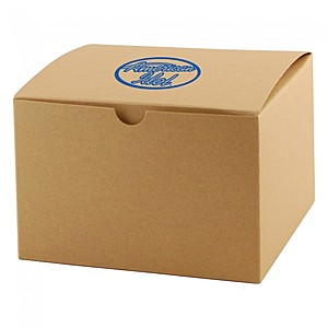 "Fold Up Gift Box   Natural Kraft   5"" X 5"""